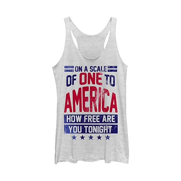 CHIN-UP-4th-of-July-America-How-Free-are-You-Tonight-Womens-Graphic-Racerback-Tank