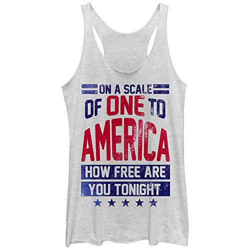 CHIN UP 4th of July America How Free are You Tonight Womens Graphic Racerback Tank