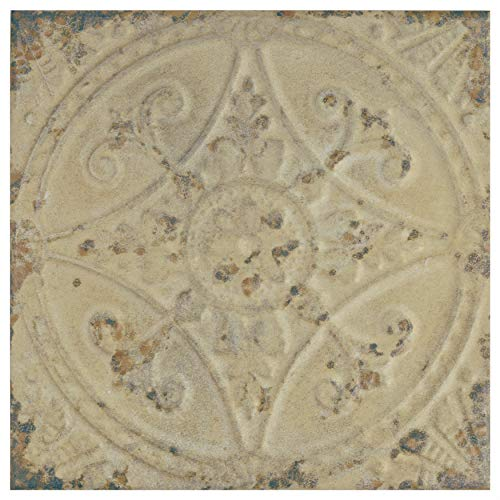 SomerTile FPESAJB Murcia Ceramic Floor and Wall Tile, 13'' x 13'', Blanco by SOMERTILE (Image #14)