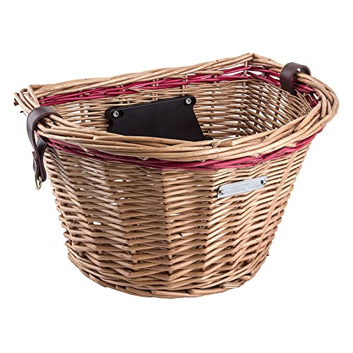 Sunlite Wicker QR Basket, Honey/Red -
