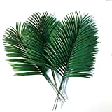 Htmeing 10pcs 22inch Artificial Palm Leaves Green Plants Decorative Fake Flowers for Home Wedding Party Decoration (Green)