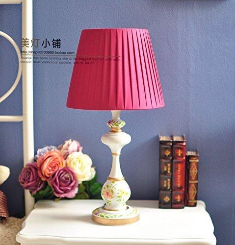 Unbekannt Set Tischlampe-Europäischen Stil Schlafzimmer Lampe amerikanischen Garten Lampe amerikanischen Land Dekor Lampen