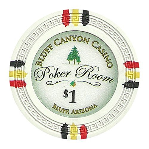 Pro Clay Poker Poker (Claysmith Gaming Bluff Canyon Poker Chips Heavyweight 13.5-Gram Clay Composite – Pack of 50 ($1 White))