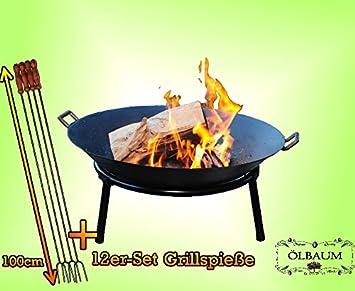 Forma – Barbacoa Estable de hierro fundido con 2 asas + Stand Anillo, ligera +