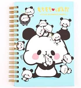 Libreta de anillas azul con osos panda mochi cuaderno de