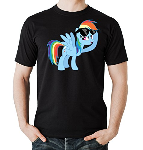Rainbow Pony T-Shirt Nero