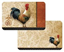 CounterArt Signature Rooster Reversible Placemats, Set of 4