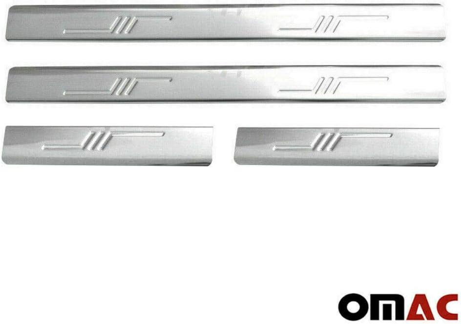 Chrom Einstiegsleisten T/ürschutzleisten f/ür Picanto ab 2004 4 tlg aus Edelstahl V2A