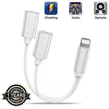 DAEETO Adaptador para iPhone 7 Auriculares Adaptador ...
