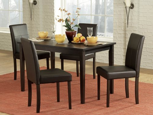 Homelegance Dover 5 Piece Dining Table Set in Black