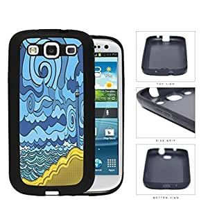Psychedelic Aqua Seashore Lighthouse Rubber Silicone TPU Cell Phone Case Samsung Galaxy S3 SIII I9300
