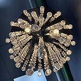 3 Lights Mini Crystal Flushmount Chandelier
