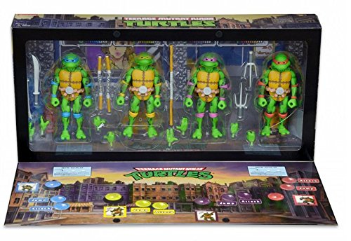 Sdcc teenage mutant ninja turtle arcade set box four figures 2016 neca (Neca Ninja Turtles compare prices)