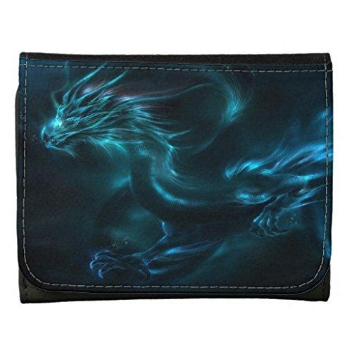 Cool Dragon (YEX Men's Blue Dragon Cool Leather Wallet Black Size M)
