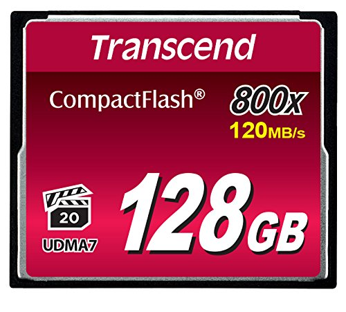 Transcend 128GB CompactFlash Memory Card 800x (TS128GCF800) by Transcend