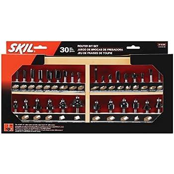SKIL 91030 Carbide Router Bit Set, 30-Piece