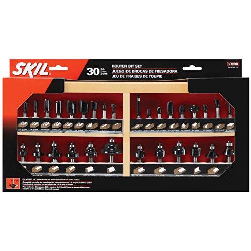 SKIL 91030 Carbide Router Bit Set, - Set Piece Router