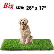 Fezep Artificial Grass, Dog Pee Pads, Professional Dog Potty Training Rug, Large Dog Grass Mat with Drainage Holes, Pet Turf Indoor Outdoor Flooring Fake Grass Doormat - Easy to Clean