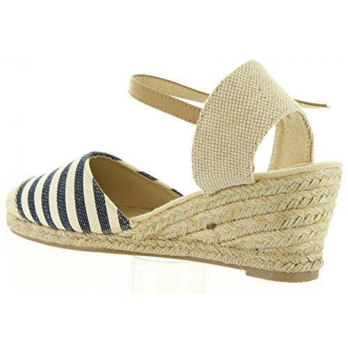 Sandalias de Mujer URBAN B733133-B7200 NAVY-BEIGE