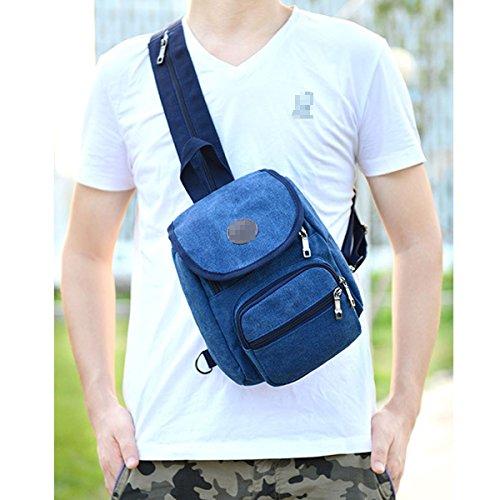 Casual Laptop Rucksack Für Männer Boy Canvas Vintage Daypack Tasche Mini Schulrucksack Reiserucksack Blue pYBM0vhUR1