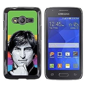 Shell-Star Arte & diseño plástico duro Fundas Cover Cubre Hard Case Cover para Samsung Galaxy Ace4 / Galaxy Ace 4 LTE / SM-G313F ( Steve J )
