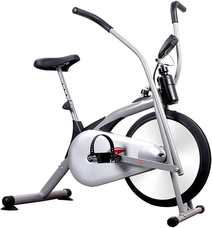SMILE Bicicleta de Ejercicios con Ventilador de Bicicleta Vertical con Sistema de Resistencia al Aire - Equipo de Ejercicios de Resistencia al Aire Libre/Exterior Infinito Blanco: Amazon.es: Hogar