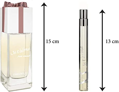 Je T Aime Mon Amour estuche Eau de Perfume 100 ml/vapo de sac 12 ml: Amazon.es: Belleza