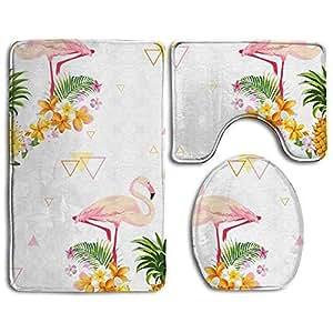 Amazon.com: SLobyy Pineapple and Flamingo 3 Pcs Bath Rug