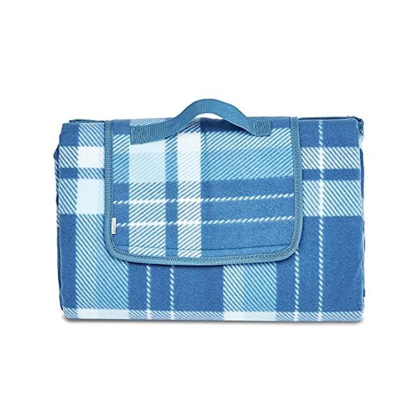 51Drg3nULpS Amazon Basics - Picknickdecke, campingdecke mit wasserdichter Unterseite, 150 x 195 cm