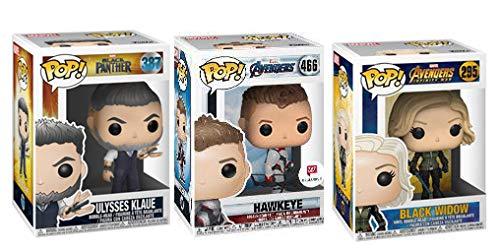 Avengers End War Infinity Game Bundle: Hawkeye 466 (Exclusive) + Ulysses Klaue 387 + Black Widow 295 -