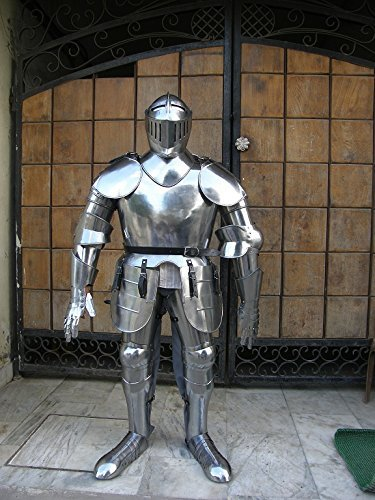 MEDIEVAL WEARABLE KNIGHT CRUSADOR FULL SUIT OF ARMOR COLLECTIBLE ARMOR COSTUME by NAUTICALMART
