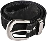 Atitlan Leather Black Suede Leather Money Belt 38