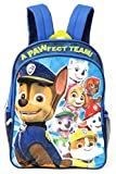 Paw Patrol Boys' Plush Applique Backpack, Blue, One Size