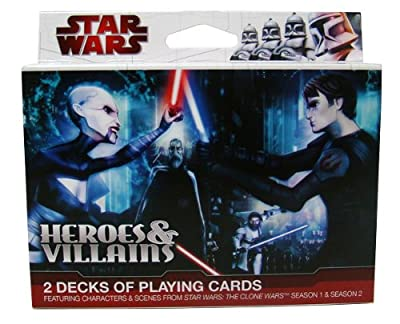 Star Wars Heroes & Villains Playing Cards - Animated Clone Wars Double Decks