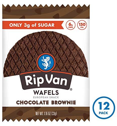 Rip Van Wafels Chocolate Brownie Stroopwafels - Healthy Snacks - Non GMO Snack - Keto Friendly - Office Snacks - Low Sugar (3g) - Low Calorie Snack - 12 Pack 2
