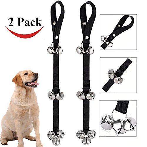 2 PACK Dog Doorbells Dog Bells for Potty Training Adjustable Puppies Door Bell for Housetraining and Housebreaking Train