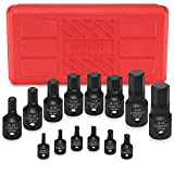 """Neiko 01142B Impact Grade Allen Bit Socket Set, SAE Hex Driver, 3/32"""" to 3/4"""" 