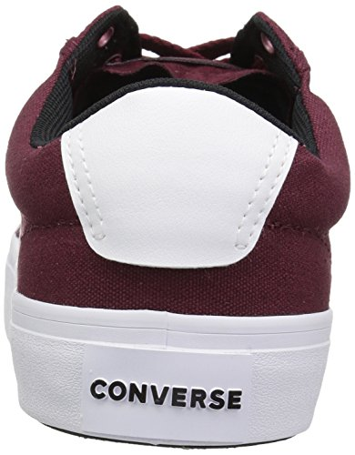 dark Courtlandt black white 628 Multicolore Sneakers Lifestyle Basses Converse Adulte Ox Burgundy Mixte 58fUwwPx