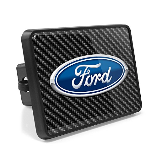 Ford Logo Carbon Fiber Look UV Graphic Metal Plate on ABS Plastic 2