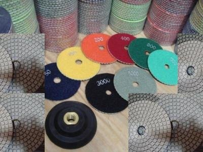 6'' 6 Inch / 150mm Diamond Damo Polishing Pad 18 Pieces And Rubber Backer Granite Marble Concrete by Asia Pacific Construction