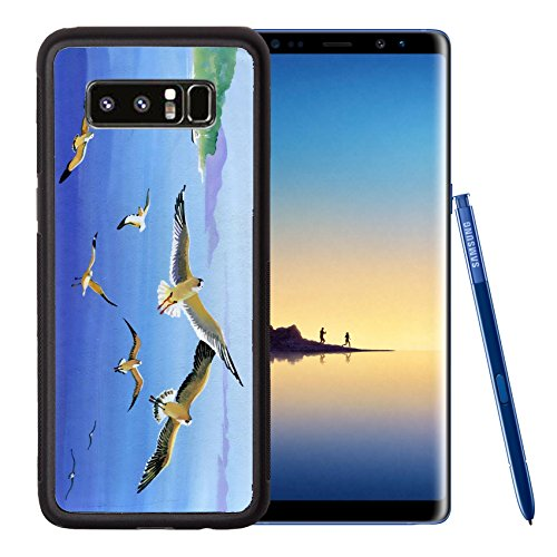 Cards Christmas Filigree (Liili Premium Samsung Galaxy Note8 Aluminum Backplate Bumper Snap Case IMAGE ID: 22951433 Watercolor seagulls)