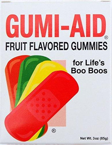 Chocolate Usa Fruit Basket (Gumi-Aid Fruit Flavored Gummy Bandages 3 oz Box (Pack of 2))