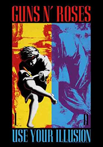 Guns Roses Banner N (Guns N' Roses - Use Your Illusion Fabric Poster 30 x 40in)
