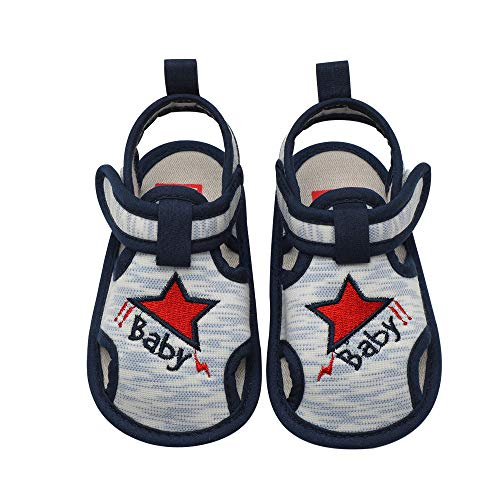 Baby Toddler Boys Star Sandals, ♥ Beyonds Hollow Out Roman Shoes, Soft Sole Anti-Slip Infant Summer Outdoor Shoes Newborn First Walker Crib Shoes Sneaker Loafers