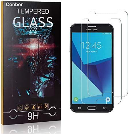 Conber [2 Stück] Displayschutzfolie kompatibel mit Samsung Galaxy J7 Prime/Galaxy On 7, Panzerglas Schutzfolie für Samsung Galaxy J7 Prime/Galaxy On 7 [9H Härte][Hüllenfreundlich]