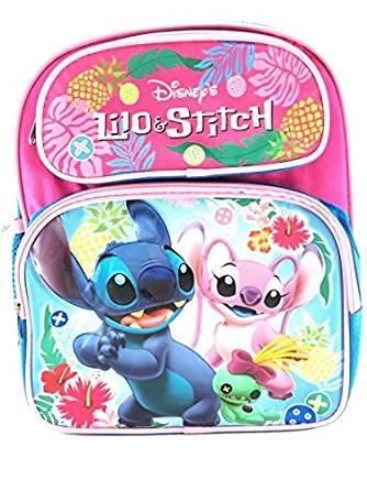 Shimmer Stitch (Disney Lilo & stitch 12 inches Toddler Mini Backpack)