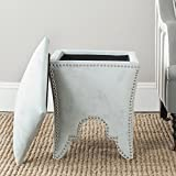 Safavieh Mercer Collection Deidra Ottoman, Silver Sage