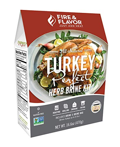 Fire & Flavor All Natural Turkey Perfect Herb Brine Kit, Perfect for Roasting, Grilling, Smoking, Frying, 16.6oz (The Best Chicken Marinade Ever)