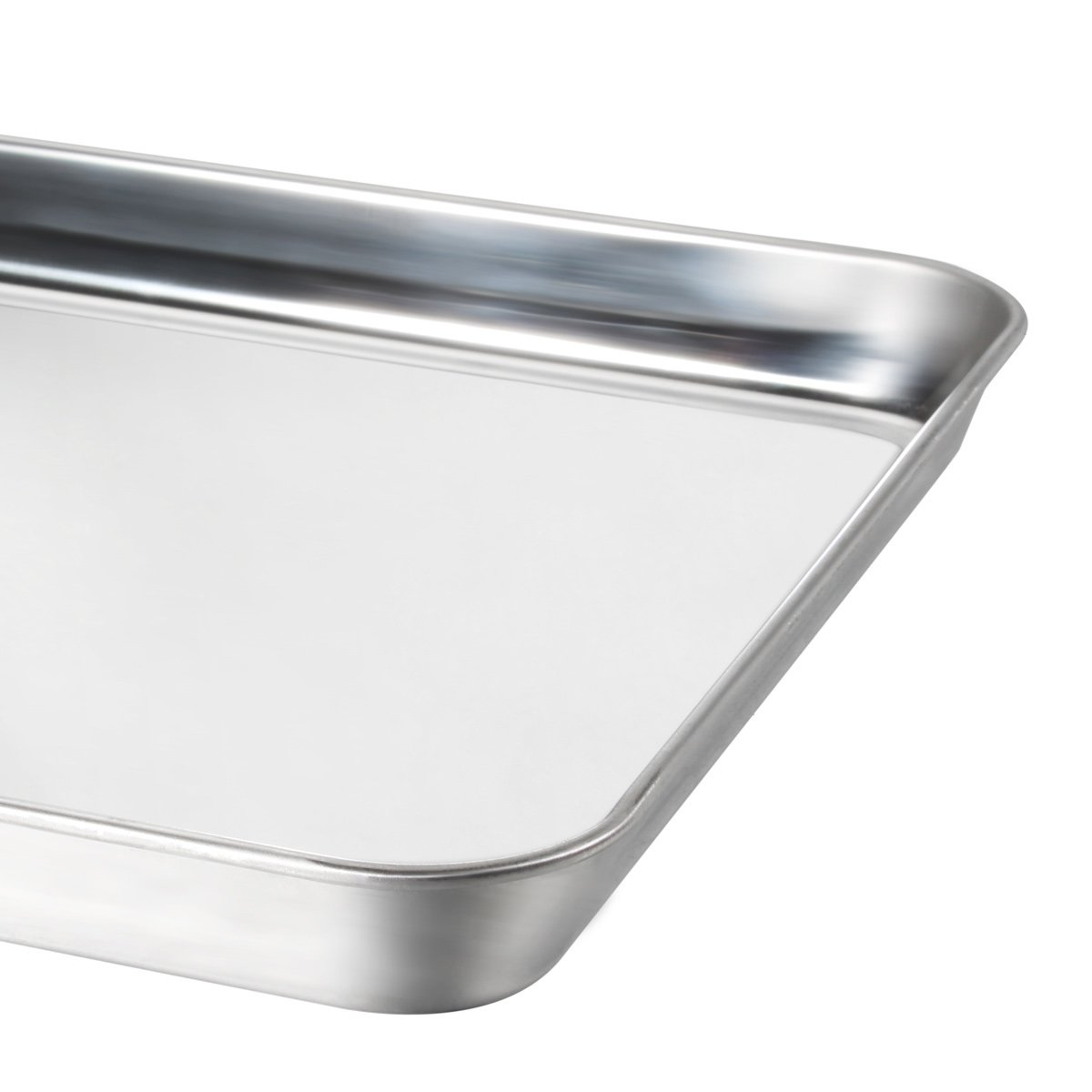 Baking Sheet Pan for Toaster Oven, Umite Chef Stainless Steel Baking Pans Small Metal Mini Cookie Sheets, Non Toxic, Superior Mirror Finish Easy Clean, Dishwasher Safe, 9 x 7 x 1 inch by Umite Chef (Image #2)