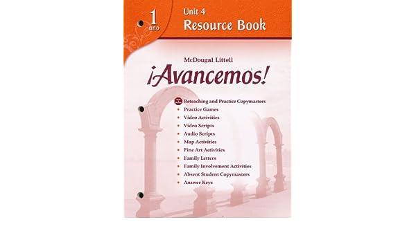 Avancemos!: Unit Resource Book 4 Level 1 (Spanish Edition): MCDOUGAL